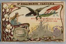 ART NOUVEAU 11° Reggimento Fanteria Donnina WWI PC Viaggiata 1911