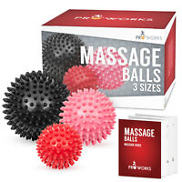 Proworks Trigger Point Massage Ball Set | Spiky PVC Roller Balls for Pain Relief