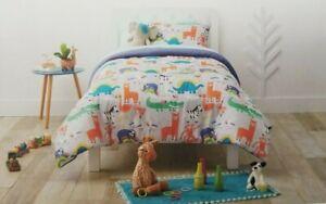 2 pc Pillowfort Animal Adventure Twin Comforter and Sham Set NIP