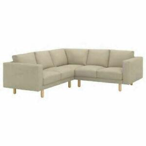 IKEA Norsborg 2+2 Corner sofa Cover set , Grasbo Beige + armrest covers [4 seat]