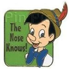 PINOCCHIO THE NOSE KNOWS! CAST LANYARD 2002 DISNEY PIN