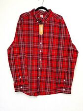 Gymboree | Men's Red Black Plaid Button Down Long Sleeve Collared Shirt Size XXL
