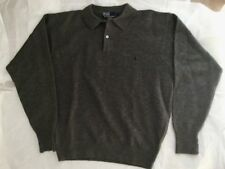 Polo Ralph Lauren  Mens  100% Lambswool  Collared  Gray Sweater  Sz L  EUC
