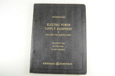 GE Electric Power Supply Equipment on Railway Passenger Cars Guide - 1948