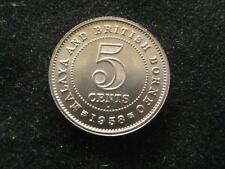Malaya and British Borneo Malaysia 5 Cents 1958 CH BU