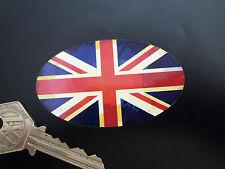 bandiera UNION JACK Ovali Classica Invecchiato adesivo moto auto 75mm Inglesi GB