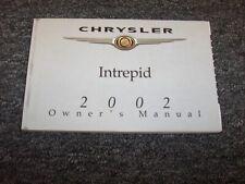 2002 Chrysler Intrepid Owner Owner's Operator Guide Manual ES SE SXT 2.7L 3.5L