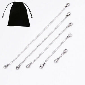 925 Sterling Silver Chain Extender Safety Two Bolt Rings MULTI SIZES Necklace