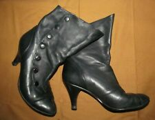 Nine West Women's 6M Vintage 80/90s Black buttersoft side snap boots COSPLAY