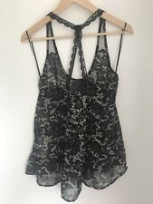 Black Cream Top Size Medium Stradivarius Lace Straps Camisole Top