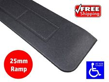 RUBBER THRESHOLD RAMP 25mm WHEELCHAIR ACCESS DISABLED DOOR STEP WEDGE