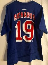 Reebok  NHL Tee New York Rangers Brad Richards Blue sz M