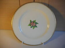 VICTORIAN ROYAL WORCESTER HANDPAINTED PLATE WITH PINK FLOWERS 1889