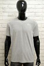 Maglia KAPPA Uomo Taglia XL Maglietta Shirt Manica Corta Cotone Grigio Regular