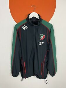 Men's Canterbury Leicester Tigers Track Jacket Tracksuit Top Black UK XL X-Large