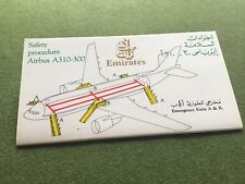safety card emirates a310 300