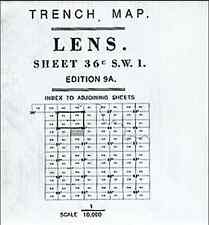 TRENCH MAP OF LENS 36C S.W.1 ED9A