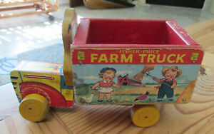 Vintage Fisher Price Farm Truck # 845 NICE Condition RARE Campbell's Kids 1954