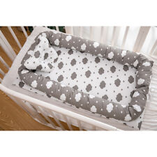 Soft Baby Bed 90x50cm Breathable Portable Infant Lounger Crib Nest Clouds_Grey