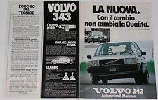 Advert Pubblicità 1979 VOLVO 343
