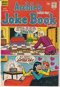 Archie Comic:  Archie's Joke Book #162 Archie Series 1971