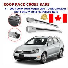 Volkswagen Golf TDI/Sports Wagon 2008-2019 Raised Rail Rack Cross Bar Crossbar