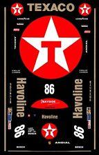#86 1990 Havoline Porsche 962 1/64th HO Scale Slot Car Decals