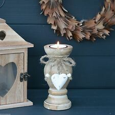 Heart Wooden French Country Candle & Tea Light Holders