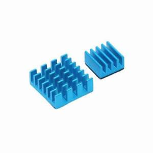 2pcs Blue Heatsink Aluminium with 3M Thermal Adhesive Pads for Raspberry Pi