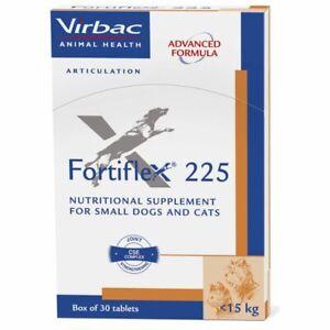 Virbac Fortiflex Dog Cat Flexible Joint Osteoarthritis Mobility, 30 Tablets