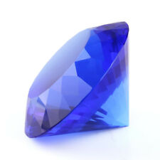 80mm Blue K9 Crystal Diamond Shape Paperweight Glass Gem Display Gift Ornament
