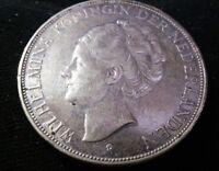 Netherlands 1937  2 1/2 gulden silver high grade coin