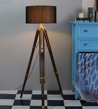 Vintage Modern Retro Wooden Timber Tripod Floor Lamp Nautical Floor Lamp