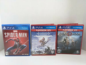 3 PS4 Sony First Party Game Bundle - Spider-Man - Horizon - God of War FREE SHIP