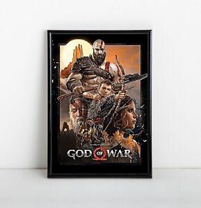 God of War Game Poster   Exclusive Framed Art   Kratos   NEW   USA