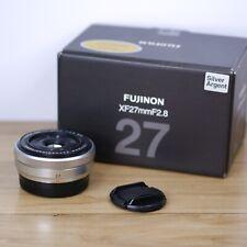 Fujifilm Fuji Fujinon XF 27mm F2.8 Silver Lens