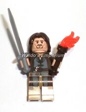 Lego Lord of the Rings Minifigure, ARAGORN w/Sword & Torch 9472, 9474, 79008 New