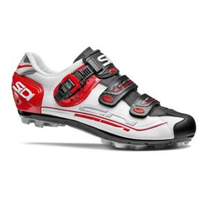 SIDI Eagle 7 Fit MTB Cycling Shoes Bike Shoes White/Black/Red Size 36-46 EUR