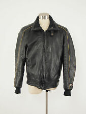 1990s WARM GEAR Vintage Leather Thinsulate Snowmobile Bomber Jacket Medium M
