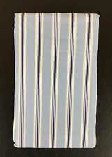 Ralph Lauren Pillowcases Pair NIP Blue Navy Stripe 2 Porcelain Tamarind Cotton
