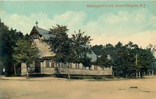 ISLAND HEIGHTS, NEW JERSEY - EPISCOPAL CHURCH - USED - OLD POSTCARD VIEW