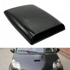 Black Car Air Flow Decorative 3D Simulation Intake Hood Scoop Bonnet Vent Cover