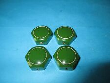 VINTAGE SET OF 4 KNOBS,  AMPLIFIERS,  RECORD PLAYERS RADIOS ETC..1960's.