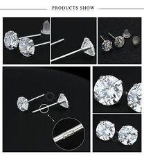 7mm Genuine 925 Sterling Silver Stud Earrings For Women | Free Fast Shipping