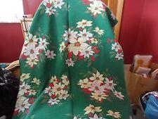 "set of 2 Green poinsettia Christmas tablecloths 58"" x 90"""