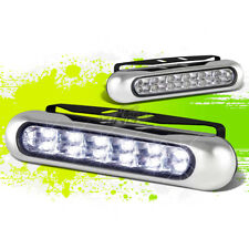 "6"" 12 WHITE LED DRL/DAY DRIVING/FOG BUMPER/GRILLE SLIM LAMP/LIGHT BAR+MOUNT KIT"