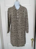Vintage Wayne Diamond Snake Animal Print Shift Dress Size 10