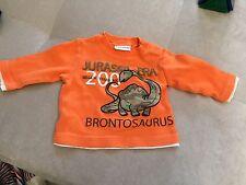Baby Boy Dino Orange Shirt 3-6 Month