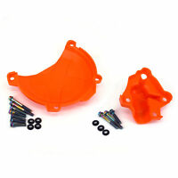 Water Pump + Engine Clutch Case Cover Guard For KTM Freeride 350 SXF EXCF  250