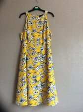 TU Yellow Dress Size 14R  NEW WITH DEFECT Belt Missing Lined Zip Summer Occasion